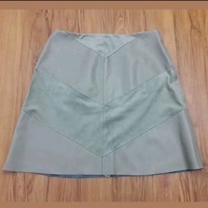 Zara A-line Skirt Sz Small Gray Faux Suede Leather